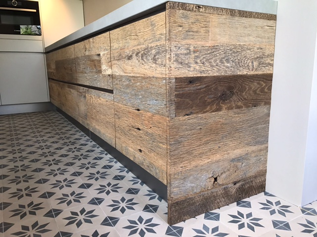 Eiken Frontjes Keuken : Keuken barnwood eiken weathered grey robuust maatwerk