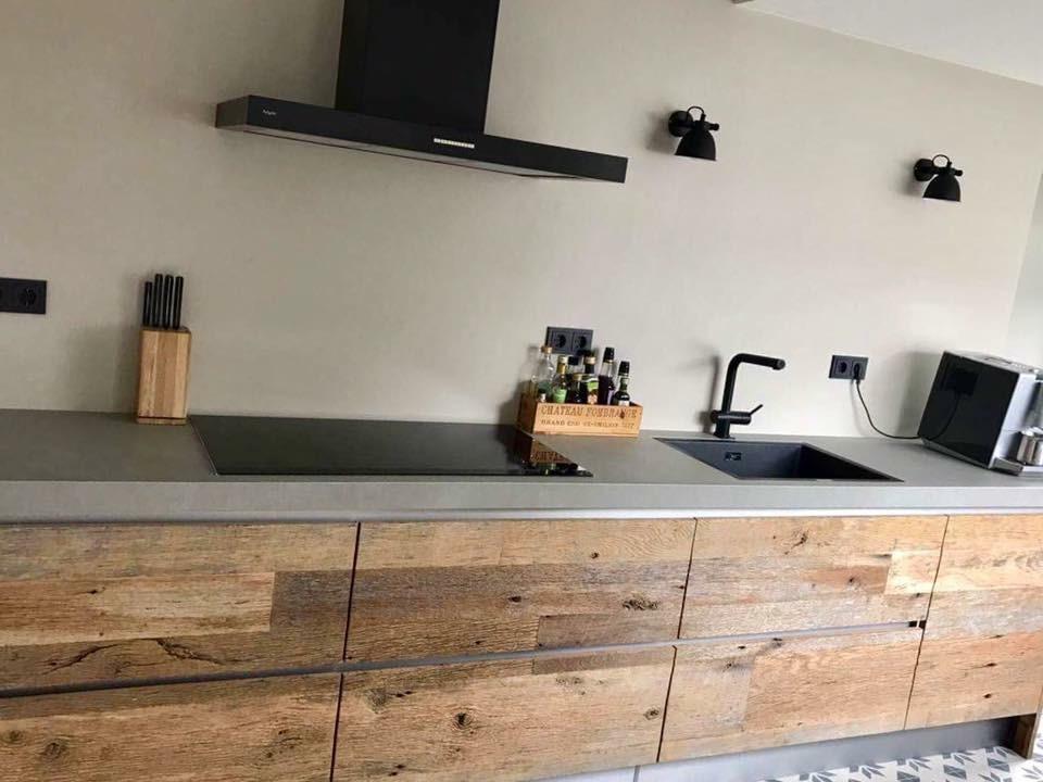 Stoere Keuken Grey : Keuken barnwood eiken weathered grey robuust maatwerk