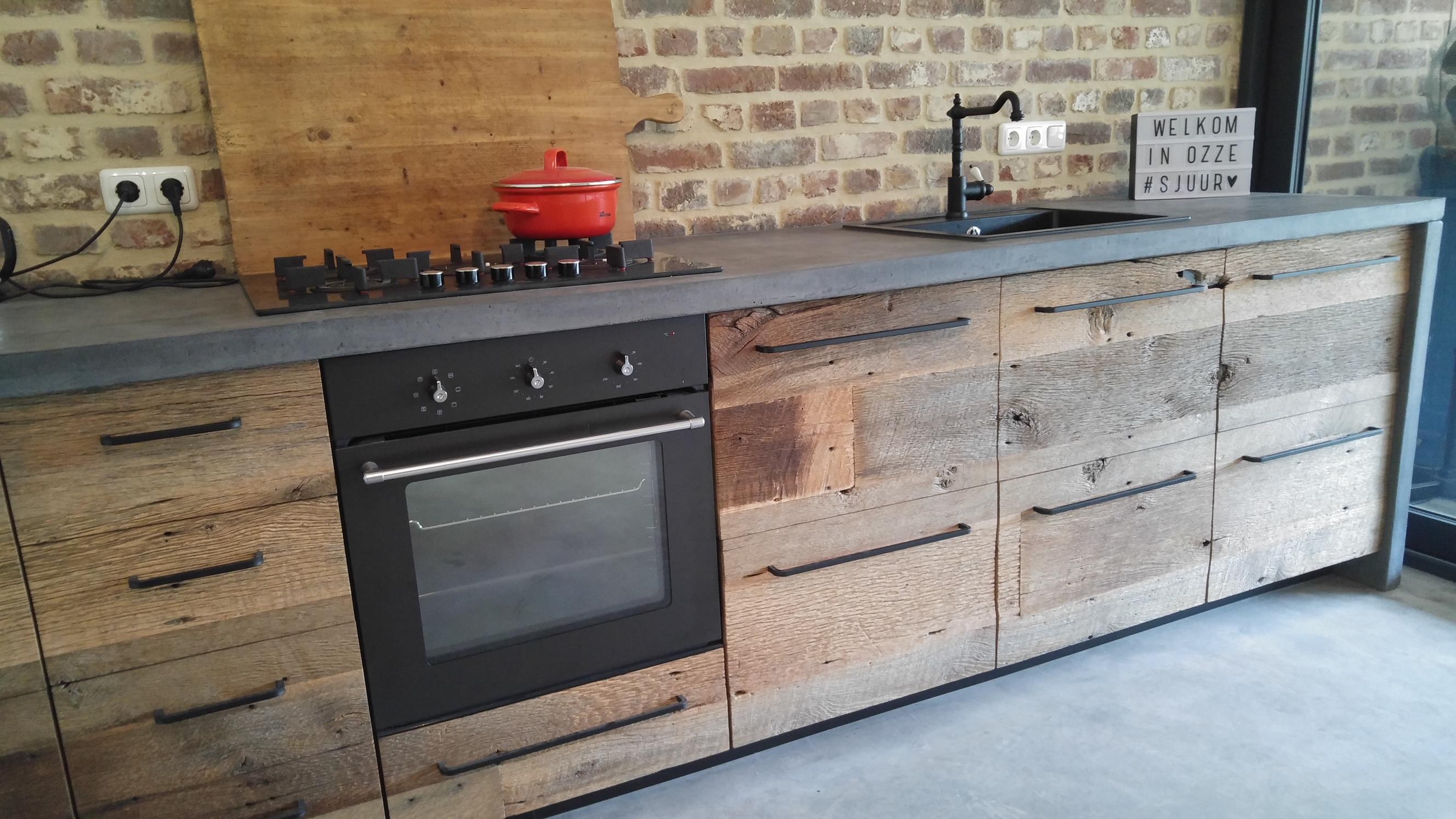 Houten keuken barnwood 3 robuust maatwerk